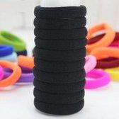 Haarelastiekjes Zwart - 10 Stuks - Elastische Bandjes Haar Elastiekjes / Haarbandjes / Hair Band / Haarclips -  Voor Meisjes / Kinderen