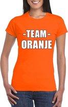 Sportdag team oranje shirt dames S
