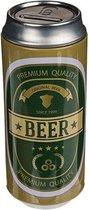 Spaarpot blikje Beer groen/goud