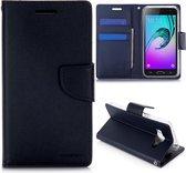 Samsung Galaxy J3 / J3 2016 Booktype Hoesje Mercury Diary Series - Zwart