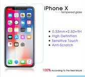 Screen Protector / Tempered Glass  - Extra gehard Japans glas 2.5 D – iPhone X / iPhone 10- TRANSPARANT