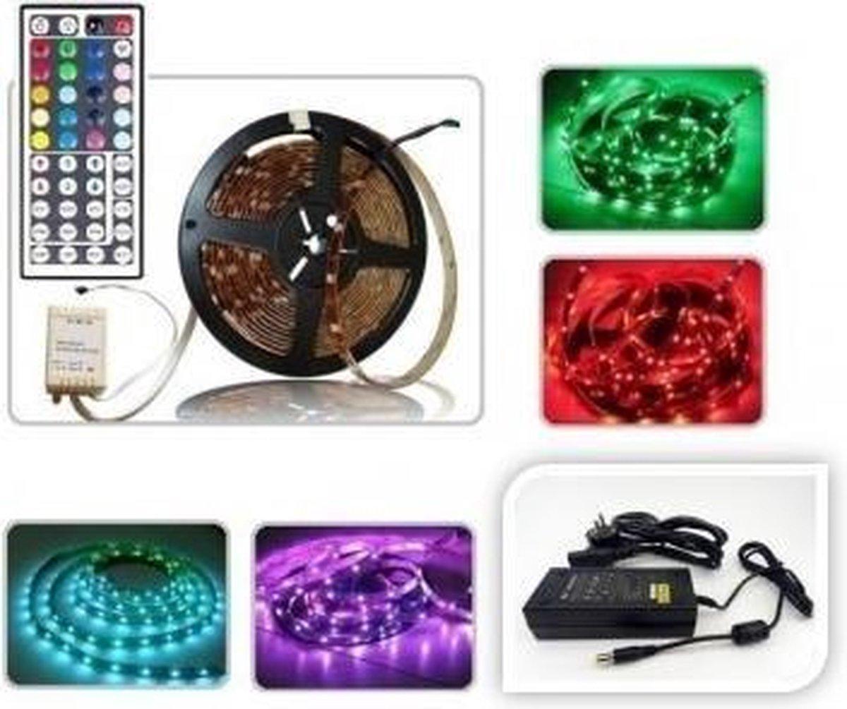 ABC-LED - Led strip - 5 m - RGB - Plug & play 24V Non-Waterproof - incl. 24 Key controller