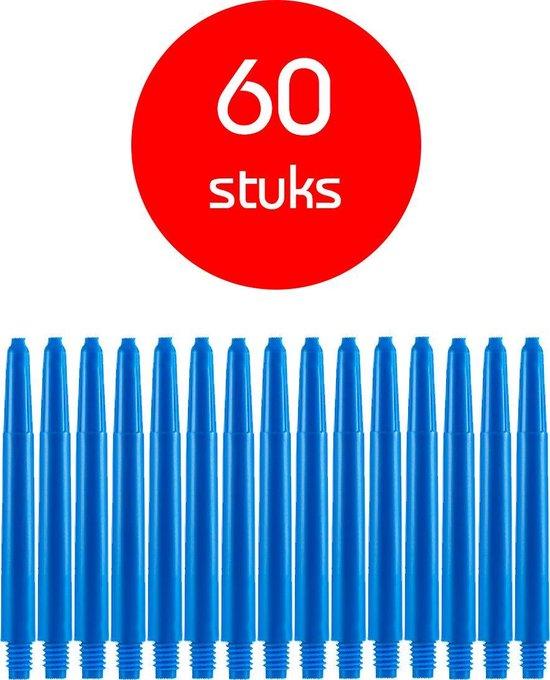 Dragon Darts - darts shafts - 20 sets (60 stuks) - medium - blauw - dart shafts - shafts