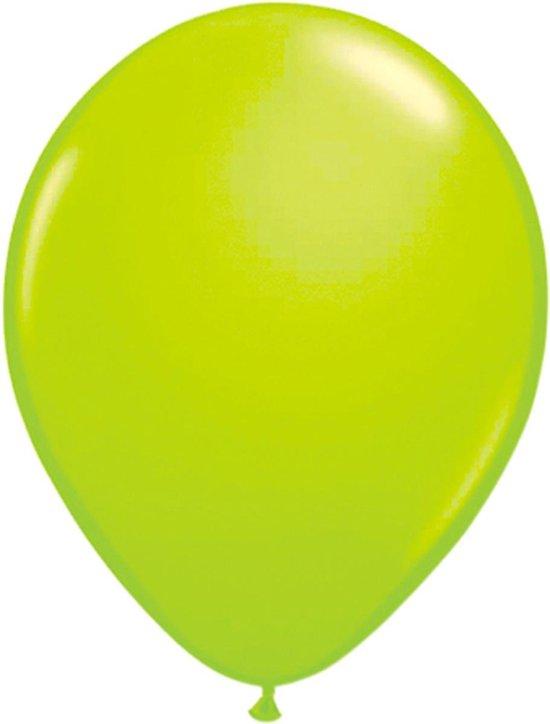 Groene neon ballonnen 25cm - 50 stuks