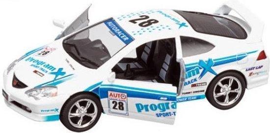 Goki Metalen auto: straatracer wit