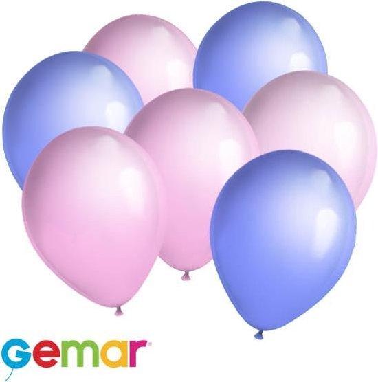 30x Ballonnen Lavendel en Lichtroze (Ook geschikt voor Helium)