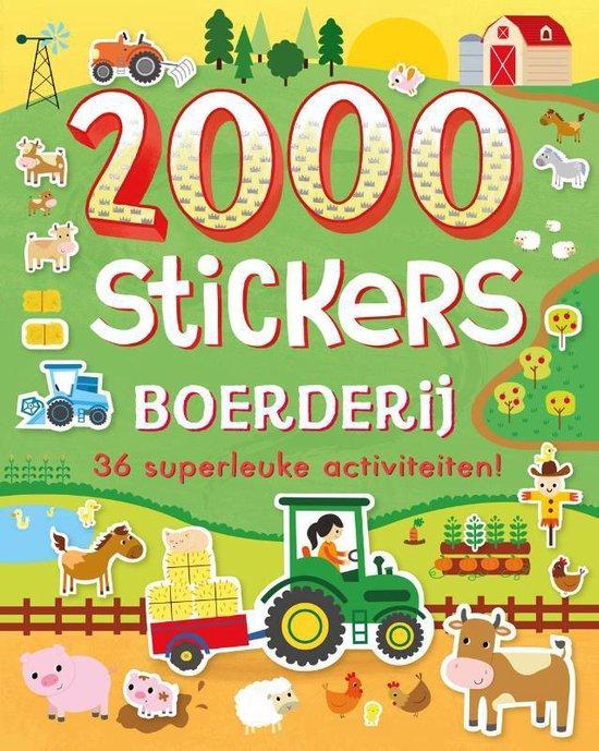 Boek cover 2000 stickers Boerderij van Diverse auteurs (Paperback)