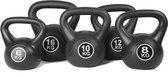 Kettlebell Focus Fitness - set 4 t/m 10 KG - Totaal: 28 kg - Cement