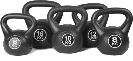Kettlebell Focus Fitness - set 4 t/m 10 KG - Totaal: 28 kg