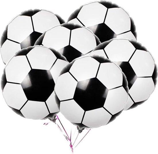 Folie Ballon Voetbal | Set van 10 Folie Ballonnen | Voetbal