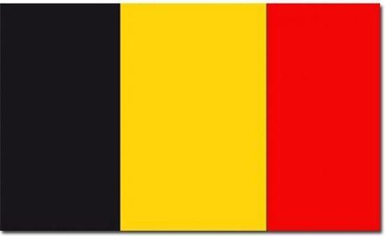 België Vlag - 90 x 150 cm - Zwart / Geel / Rood