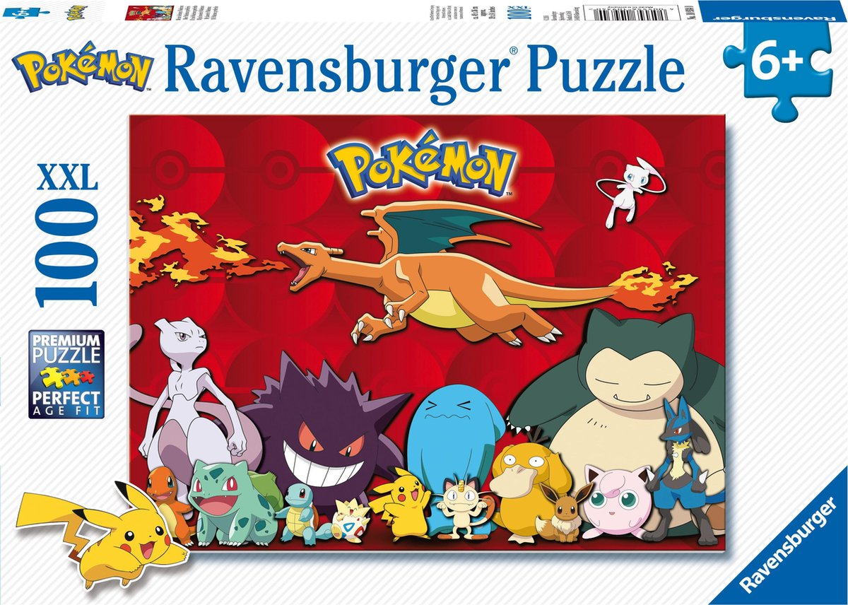 Ravensburger puzzel Pok mon - Legpuzzel - 100XXL stukjes