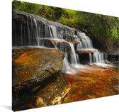 Waterval in Nationaal park Blue Mountains in Australië Canvas 180x120 cm - Foto print op Canvas schilderij (Wanddecoratie woonkamer / slaapkamer) XXL / Groot formaat!