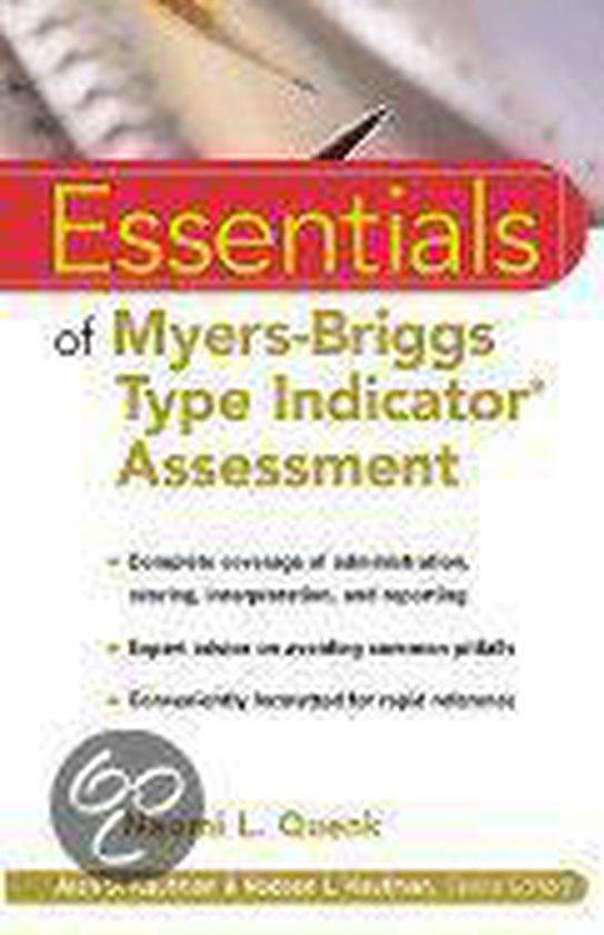 Boek cover Essentials of Myers-Briggs Type Indicator® Assessment van Naomi L. Quenk (Paperback)