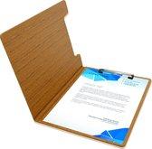Goodline® - A4 Klembordmap met Omslag / Clipboard / Klemmap - Houtpatroon Bruin