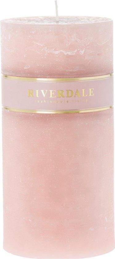 Riverdale Pillar – Kaars – 10x20cm – roze