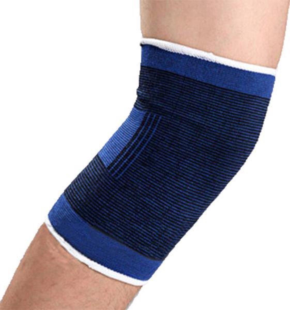 DW4Trading® Kniebanden set van 2 blauw