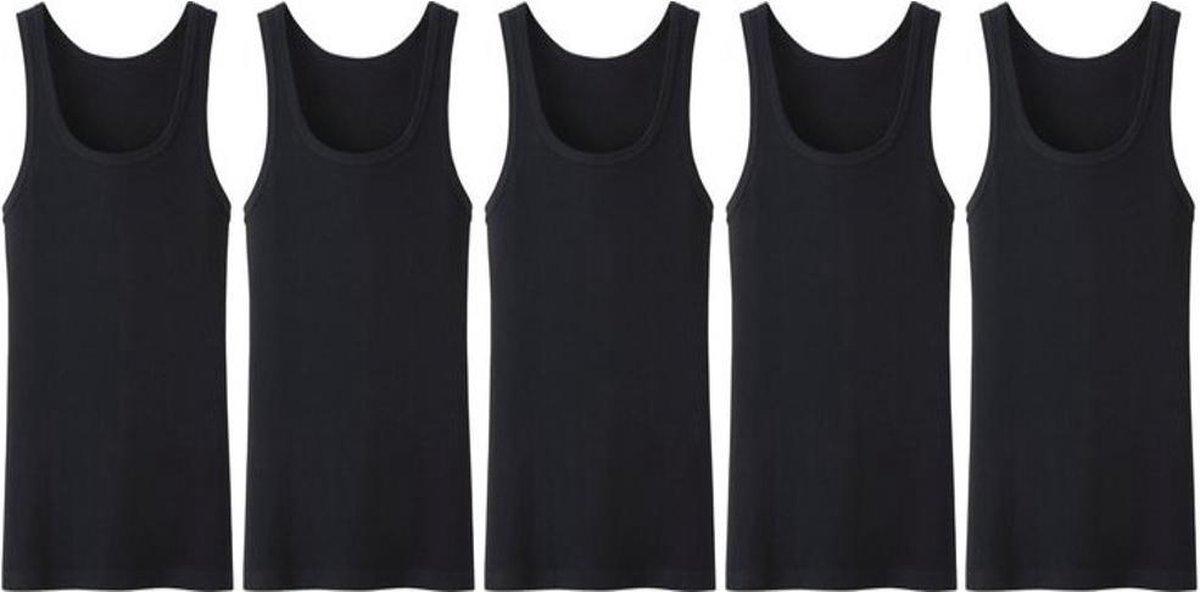 5 stuks Bonanza Regular heren onderhemd - zwart - XXL