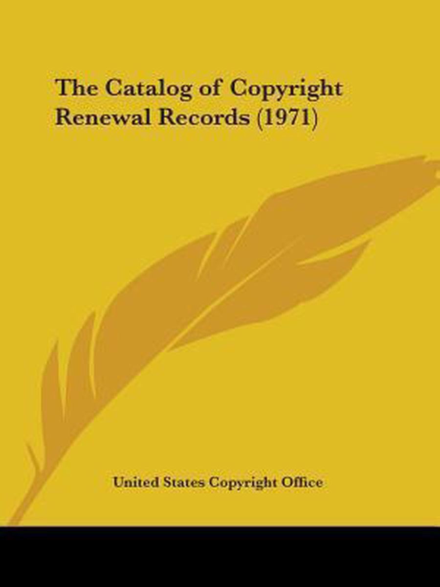 The Catalog of Copyright Renewal Records (1971)