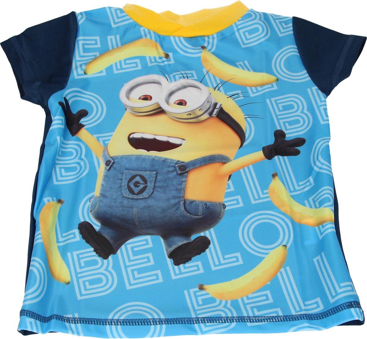 Despicable Me 3 Jongens UV T-shirt – Maat 92/98 – Blauw – UPF 40+   Kleding met Zonbeschermende Stof