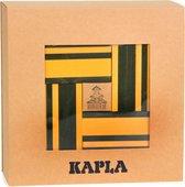 KAPLA Kleur + Voorbeeldboek - 40 Plankjes - Geel & Groen