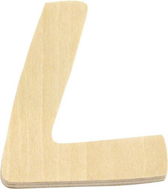 Houten letter L 6 cm