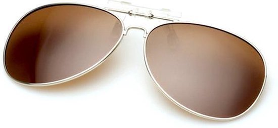clip on zonnebril (donkerbruin)