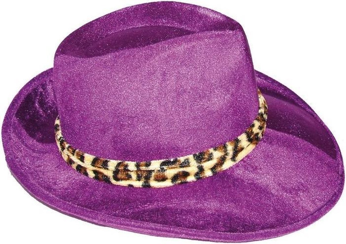 bol.com   Paarse gangster hoed volwassenen