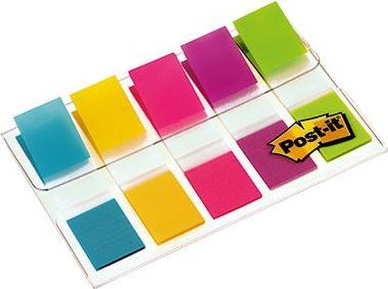 Afbeelding van POST-IT Index - 5 kleuren - 11,9 x 43,2 mm - 100 tabs
