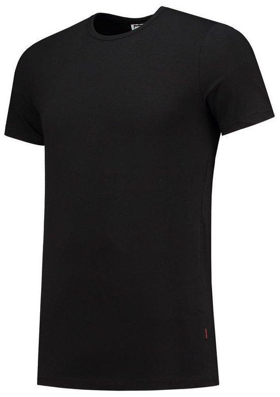 Tricorp 101013 T-shirt Elastaan Slim Fit Zwart Maat Xxxl
