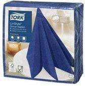 Tork Linstyle Dinnerservet 39x39cm 1lgs 1/4 vouw, midnight blue, 12x50 (600) (478856)
