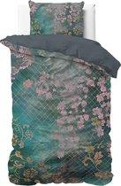 Dreamhouse Tiran Flower Dekbedovertrek - Eenpersoons - 140x200/220 + 1 kussensloop 60x70 - Groen