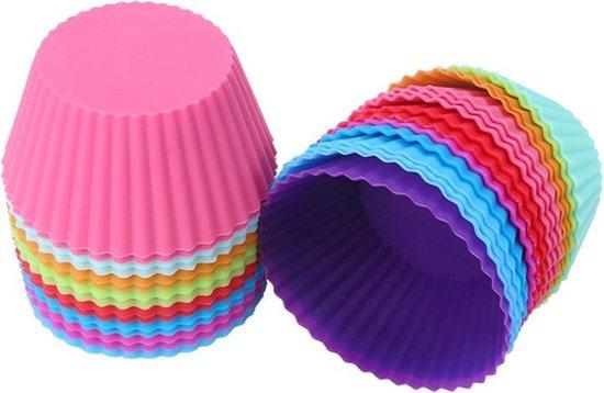 Siliconen Cupcake Vormpjes - Ronde Muffin Bakvorm Cakejes / Mini Cake Bakvormpjes / Cupcakevorm Muffinvorm
