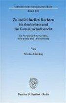 Zu individuellen Rechten im deutschen und im Gemeinschaftsrecht