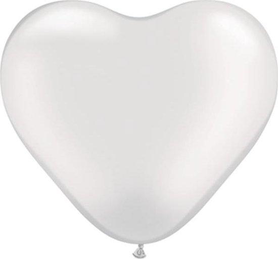MEGA Topping hart ballon 80 cm transparant