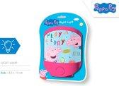 Nickelodeon Nachtlamp Peppa Pig Led Junior 17 Cm Blauw/roze