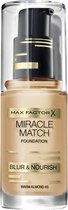 Max Factor Miracle Match Shade Matching Liquid Foundation - 045 Almond