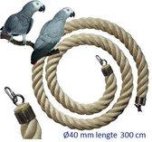 Jungle sisal touw  Ø 40 mm & 300cm lang (Vogeltouw )
