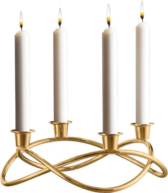 Georg Jensen Advent Crown - kandelaar - verguld 24k goud