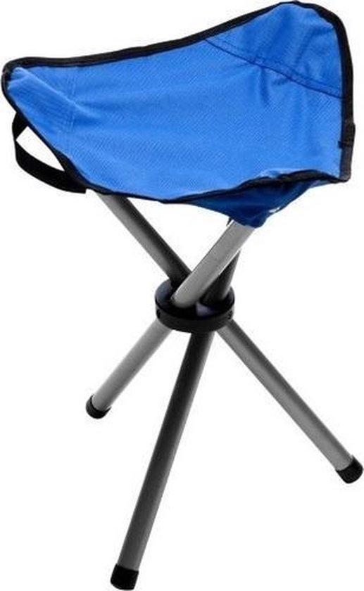 Blauwe opvouwbare campingkruk/visserskruk - Kampeerspullen - Camping benodigdheden