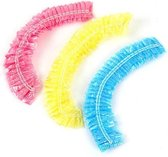 3 Badmutsen roze geel en blauw