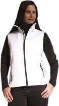 Softshell casual bodywarmer wit voor dames - Outdoorkleding wandelen/zeilen - Mouwloze vesten S