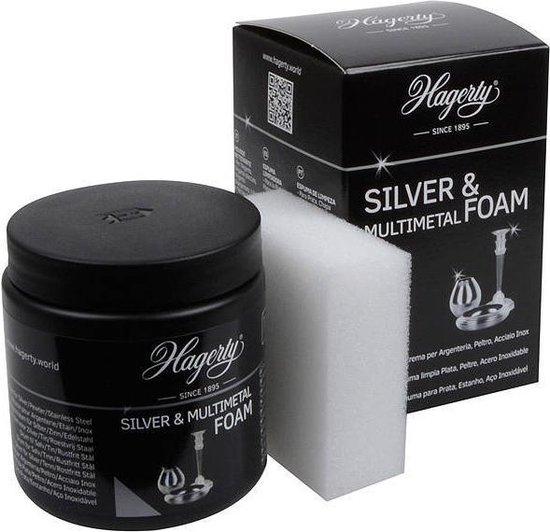 Set Zilverpoets Schuim + Spons  - Professioneel Reinigingsschuim Foam Zilver Tin Roestvrijstaal