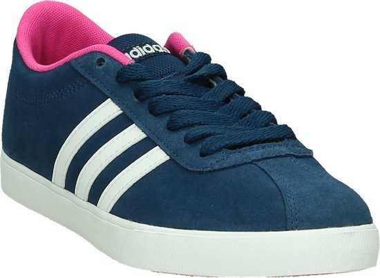 Adidas - Courtset W - Sneaker laag sportief - Dames - Maat 36 - Blauw -  Mystery Blue/Shopin/Ftwr White
