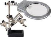 loeplamp voor Solderen met vergrootglas derde handje
