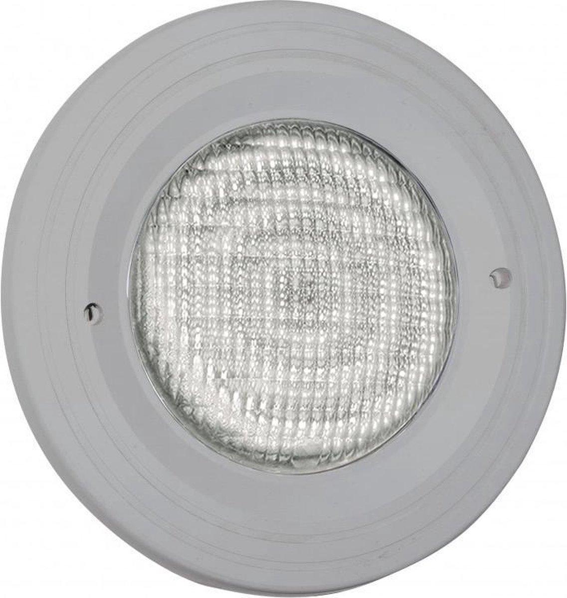 Zwembadlamp LED (wit) + inbouwset Aquareva grijs