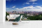 Panorama van de miljoenenstad Dalian in China fotobehang vinyl 605x340 cm - Foto print op behang