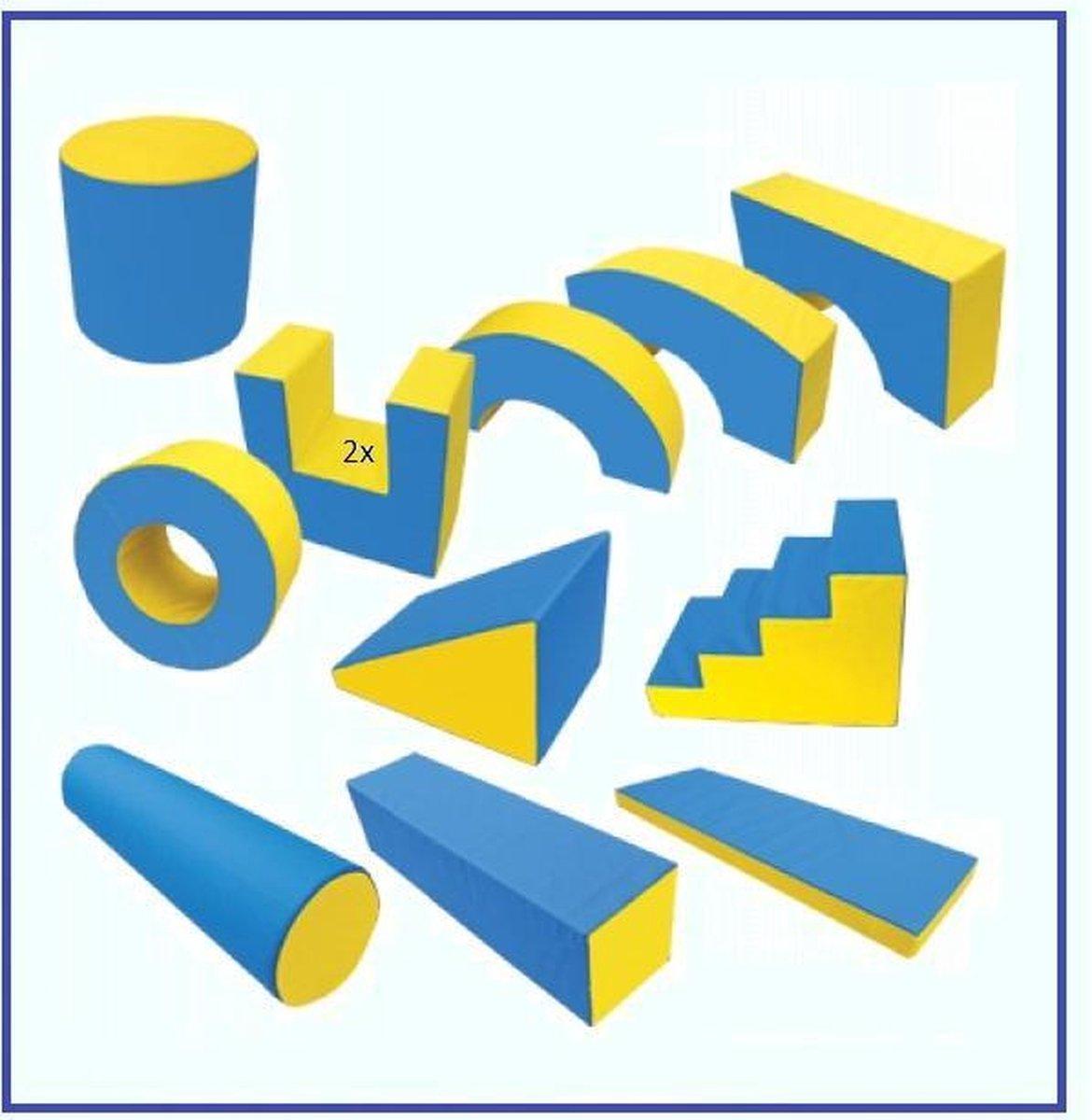 Complete professionele set - Speel, Bouw & Zit schuim blokken / kussens / elementen / foam