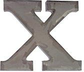 IJzeren letter X naturel