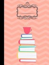 Coffee and Books Composition Notebook - 4x4 Quad Ruled